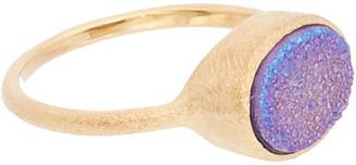 Rivka Friedman 18K Gold Clad Purple Druzy Quartz Ring