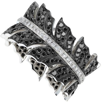 Stephen Webster White Gold and Diamond Magnipheasant Band Ring