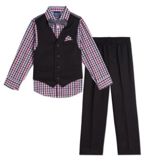 Nautica Baby Boys Solid Textured Vest Set