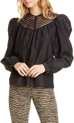 Joie Bennu Puffed Sleeve Blouse