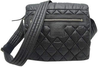 Chanel Black Nylon Coco Cocoon Vintage Messenger Bag