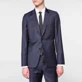 Paul Smith Men's Tailored-Fit Navy Two-Colour Puppytooth Wool Blazer