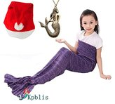 "Kpblis® All Seasons Soft Mermaid Blanket Tail for Kids and Adults 55""*28""(140cm*70cm Purple)"