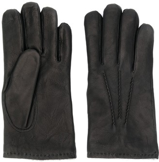 Orciani Stitching Detail Leather Gloves