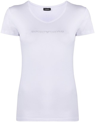 Emporio Armani rhinestone logo T-shirt