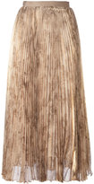 Oscar de la Renta printed pleated skirt - women - Silk/Polyester - 6