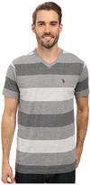 U.S. Polo Assn. V-Neck Tri-Colored Stripe T-Shirt