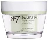 No7 Beautiful Skin Night Cream Normal/Oily 1.6 oz