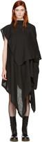 Yohji Yamamoto Black Drape Dress