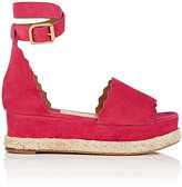 Chloé Women's Lauren Suede Platform Espadrille Sandals