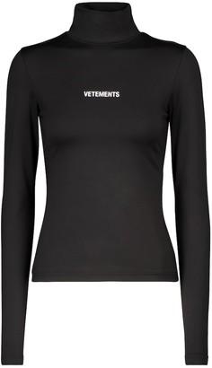 Vetements Logo turtleneck top