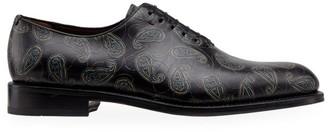 Salvatore Ferragamo Angiolo 4 Leather Oxford Shoes