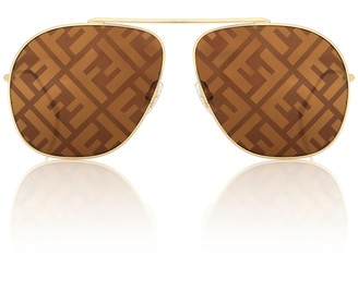 Fendi FF Family aviator sunglasses