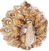 Jay Strongwater Fantail Peacock Tree Decoration - Gold