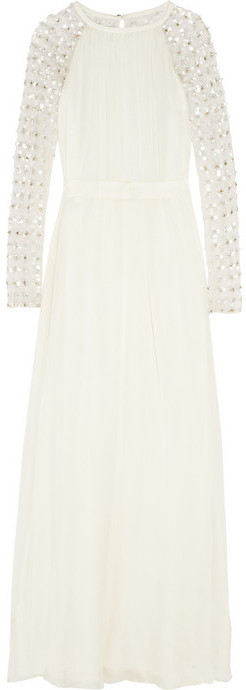 Temperley London Angeli embellished silk-chiffon and tulle gown