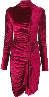 Kenzo Ruched Turtleneck Dress