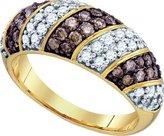 TheJewelryMaster 1.00ctw Cognac Champagne Diamond Ring Wedding Band