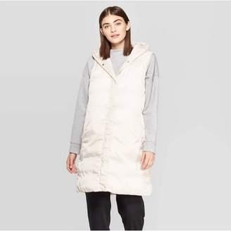 Prologue Women's Sleeveless Puffer Hooded Vest - PrologueTM Cream