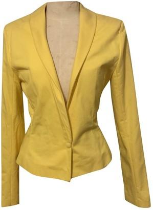 Jeremy Scott Yellow Cotton Jacket for Women Vintage