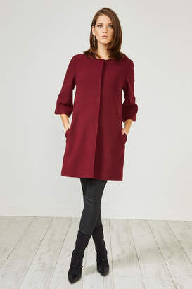 Urban Touch Red Texturedsmart Coatjacket