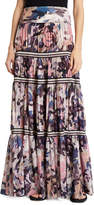 Fuzzi Long Camouflage-Print Convertible Skirt/Strapless Dress