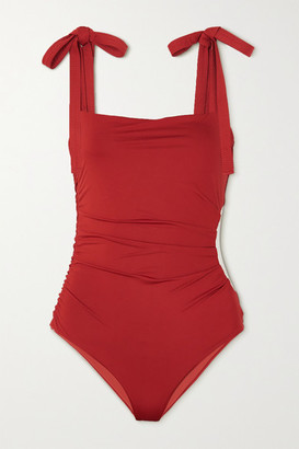 Johanna Ortiz After The Sunshine Cutout Swimsuit - Red