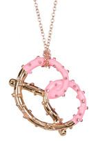 Betsey Johnson Embellished Pretzel Pendant Necklace