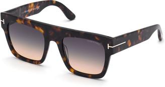 Tom Ford Renee Square Plastic Sunglasses
