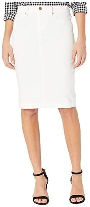 Blank NYC Denim Pencil Skirt in Great White (Great White) Women's Skirt