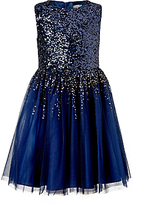 John Lewis Girls' Sequin Dress, Navy