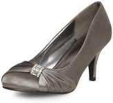 Dorothy Perkins Silver satin court shoes