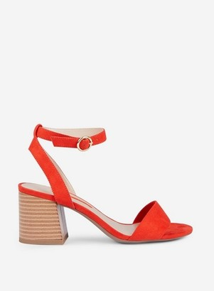 Dorothy Perkins Womens Red 'Shady' Block Heel Sandals, Red
