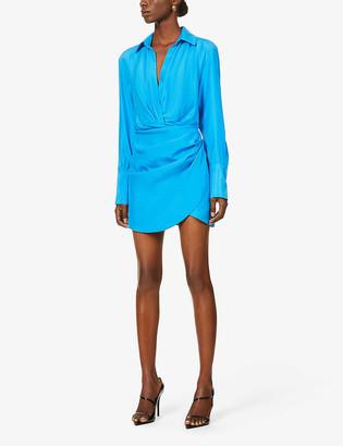 GAUGE81 Naha wrap silk mini dress