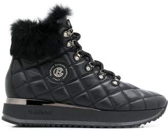 Baldinini trim detail quilted boots