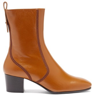 Chloé Goldee Leather Ankle Boots - Tan