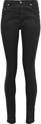 Rick Owens Coated High-rise Skinny Jeans