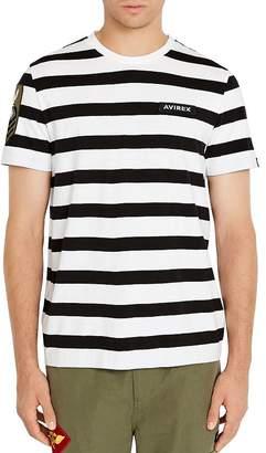 Avirex Striped Logo Tee