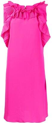 P.A.R.O.S.H. Ruffle-Neck Midi Dress