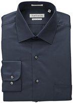Van Heusen Men's Lux Sateen Regular Fit Solid Spread Collar Dress Shirt