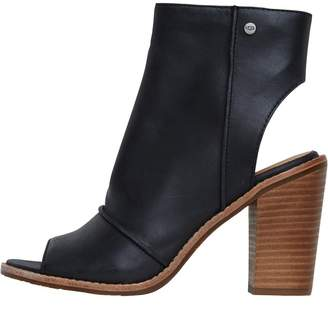 UGG Womens Valencia Peep Toe Boots Black