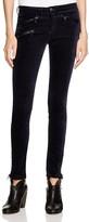 Rag & Bone Mid Rise Legging Jeans with Zips in Navy Velvet