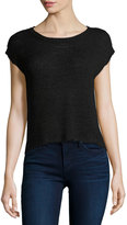 Bishop + Young Chunky-Knit Short-Sleeve Sweater, Black