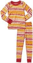 Masala Painterly Stripes PJ Set (Toddler/Kid) - Red-8 Years