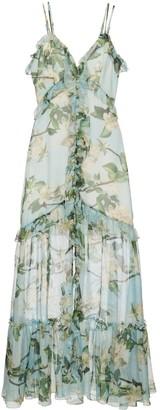 PatBO Floral-Print Flared Dress