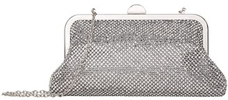 Jessica McClintock Yvonne (Silver) Clutch Handbags
