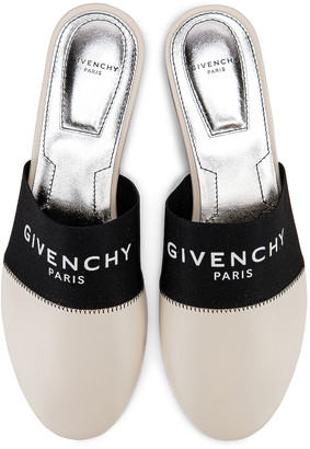 Givenchy Bedford Flat Mules in Beige | FWRD