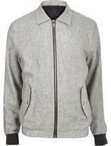River Island Mens Grey linen casual jacket