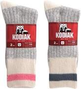 Kodiak Women's 4 Pairs of Soft Cotton Traditional Work Socks, US Shoe Size 4-10