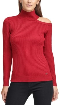 DKNY Cutout Turtleneck Sweater