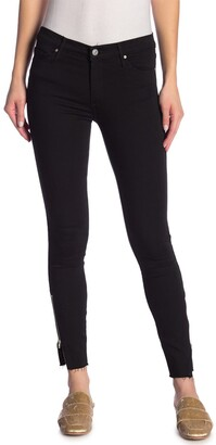 Black Orchid Kaia Zip Ankle Frayed Skinny Jeans
